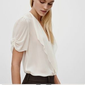 Babaton Tinsley blouse in color cream size
